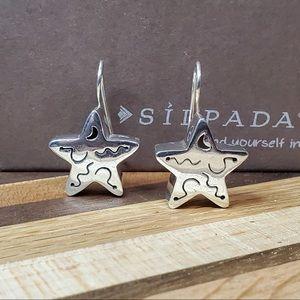 Silpada Sterling Chunky Star Earrings -HTF Rare!